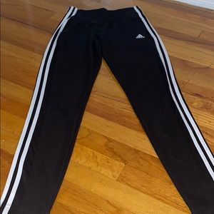 3 stripped adidas joggers
